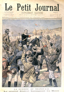 The War in the Transvaal: General Joubert encouraging the Boers by French School