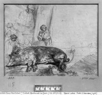 The Sow, 1643 by Rembrandt Harmenszoon van Rijn