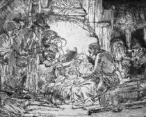 Nativity, 1654 by Rembrandt Harmenszoon van Rijn