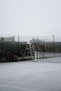 Tennis Court in Winter