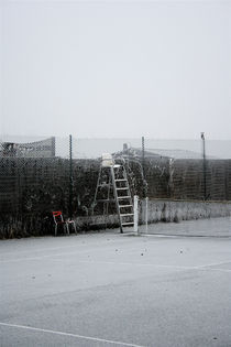 Tennis Court in Winter by Claudio Ahlers