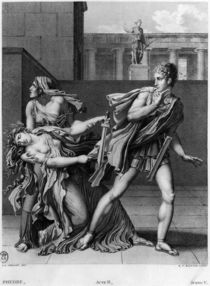 Phaedra, Oenone and Hippolytus by Anne Louis Girodet de Roucy-Trioson