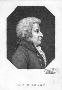 Wolfgang Amadeus Mozart by Friedrich Wilhelm Bollinger