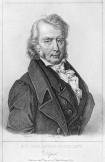 Henri Benjamin Constant de Rebecque as Deputy by Jacques