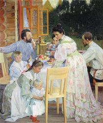 On the Terrace, 1906 by Boris Mikhailovich Kustodiev