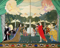 Curtain Design for the 'Free Theatre' in Moscow by Konstantin Andreevic Somov