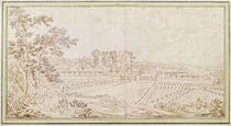 View of the Chateau of Celle-Saint-Cloud by French School