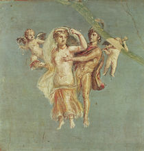Mars and Venus with cherubs on a blue background by Roman