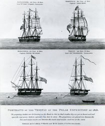 Portraits of the Vessels of the Polar Expedition of 1818 von English School