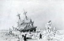 HMS Terror held on ice, 1836 von English School