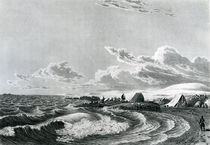 Franklin's expedition encamped at Point Turnagain by George Back
