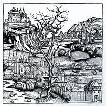 View of Portugal from the 'Nuremberg Chronicle' 1493 by German School