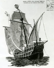 The Caravel 'Santa Maria' by English School