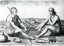 Their sitting at meat, 1590 von John White