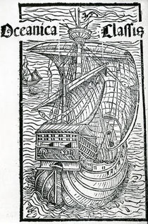 Drawing of the Santa Maria by Christopher Columbus