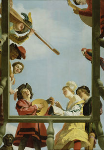 Musical Group on a Balcony von Gerrit van Honthorst