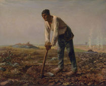 Man with a Hoe, c.1860-62 by Jean-Francois Millet