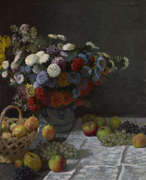 Still Life with Flowers and Fruit von Claude Monet
