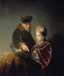 A Young Scholar and his Tutor von Rembrandt Harmenszoon van Rijn
