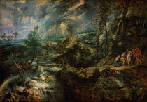 Landscape with Philemon and Baucis c.1625 von Peter Paul Rubens