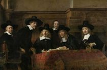 The Wardens of the Amsterdam Drapers' Guild by Rembrandt Harmenszoon van Rijn