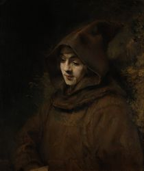 Rembrandt's Son Titus in a Monk's Habit von Rembrandt Harmenszoon van Rijn