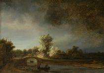 Landscape with a Stone Bridge von Rembrandt Harmenszoon van Rijn