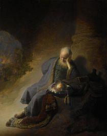 Jeremiah lamenting over the Destruction of Jerusalem by Rembrandt Harmenszoon van Rijn