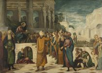 Christ and the Adulteress, 1550-80 von Jacopo Robusti Tintoretto