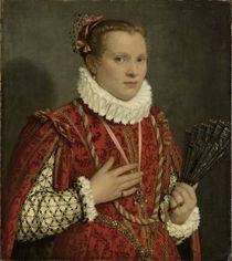 Portrait of a Young Woman, 1560-78 by Giovanni-Battista Moroni