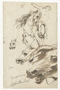 Study of Rider and head of a Horse von Anthony van Dyck