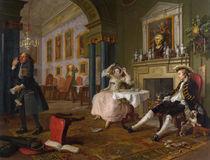 Marriage a la Mode: II - The Tete a Tete von William Hogarth