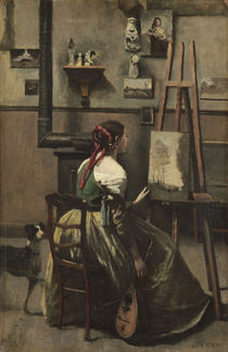 The Artist's Studio, c.1868 by Jean Baptiste Camille Corot