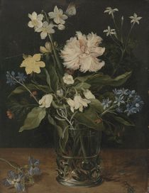 Still Life with Flowers in a Glass by Jan Brueghel the Elder