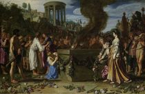 Orestes and Pylades Disputing at the Altar von Pieter Lastman