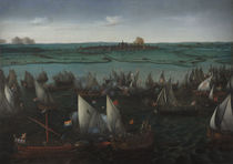 Battle between Dutch and Spanish Ships on the Haarlemmermeer by Hendrick Cornelisz. Vroom