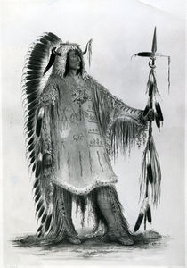 Mato-Tope, second chief of the Mandan people von George Catlin