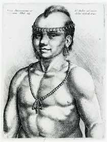 Virginian Indian, 1645 by Wenceslaus Hollar