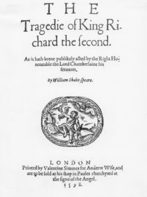 Frontispiece for 'The Tragedy of King Richard the Second' by English School