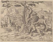 Judah giving Tamar the pledge by Maarten van Heemskerck