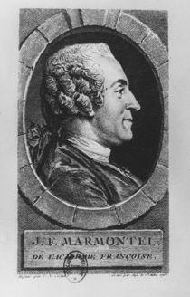 Portrait of Jean François Marmontel by Augustin de Saint-Aubin