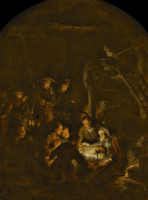 The Adoration of the Shepherds von Rembrandt Harmenszoon van Rijn