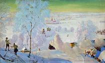 Skiers, 1919 von Boris Mikhailovich Kustodiev