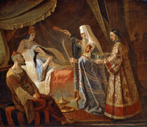 Metropolitan Alexis Healing the Tatar Queen Taidula from Blindness by Yakov Fyodorovich Kapkov