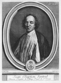 Portrait of Jean-Baptiste de Santeul by Gerard Edelinck