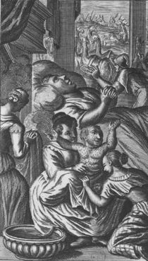 The birth of Pantagruel, illustration from 'Gargantua and Pantagruel' by French School