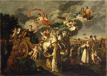 Catherine II Journeying Across Russia by Russian School