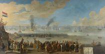 Battle of Livorno, 14th March 1653 von Dutch School