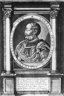 Charles IX, King of Sweden by French School
