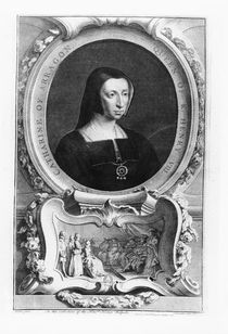 Portrait of Catherine of Aragon by Jacobus Houbracken
